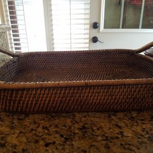 Pampered Chef Kitchen - Pampered Chef Baker and Wicker server NWOT
